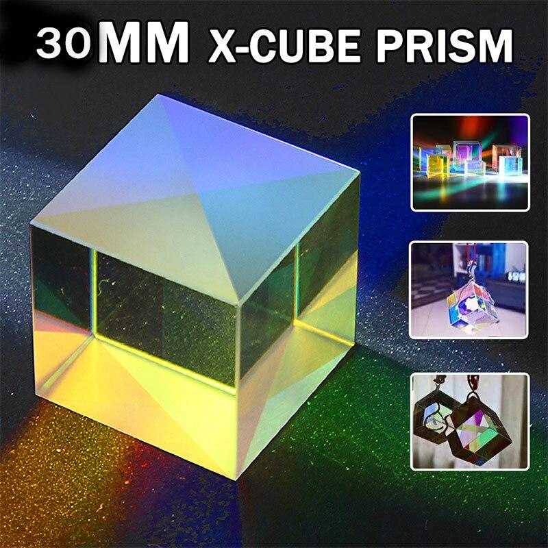 30x30x30MM RGB prisma defectuoso óptico Cruz dicroica x-cube combinador divisor DIY Decoración