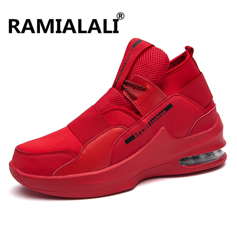 Ramialali Air Cushion Running Shoes For Men Lightweight Outdoor Walking Men Sneakers Red Bottom Sports Shoes For Male