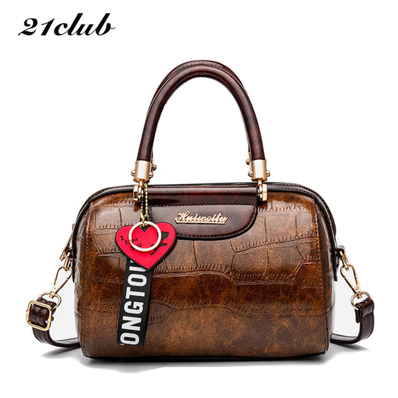 21club Brand Small Solid Color Alligator Strap Casual Fashion Ladies Totes Party Shopping Wowen Shoulder Crossbody Handbags