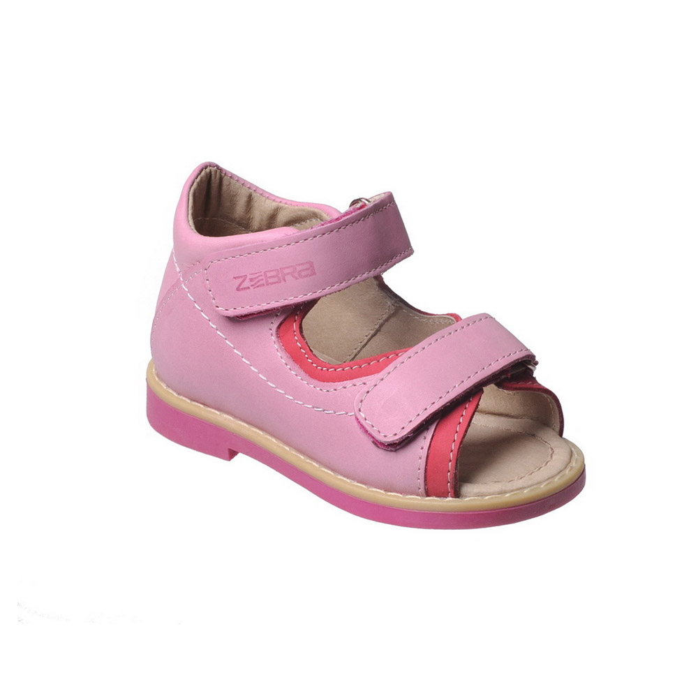 Sandals & Clogs ZEBRA for girls 10449-9 Baby Sandal Orthopedic shoes Kids Flip flops Summer gktinoo summer genuine leather women sandals comfortable ladies shoes gladiator sandal women female flat sandals fashion shoe