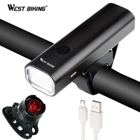 WEST BIKING Bike Lights Super Bright Headlight Taillight Set Bicycle USB Rechargeable LED Front Lamp Cycling