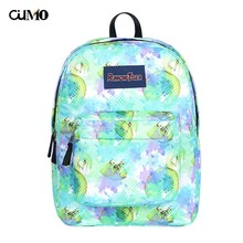 Ou Mo brand waterproof  Fruit print laptop backpack Women schoolbag school Bag teenagers man computer feminina Backpack
