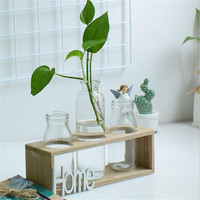 Factory Outlet Nordic Pastoral Creative Home Decoration Wood Small Fresh Glass Hydroponics HOME LOVE