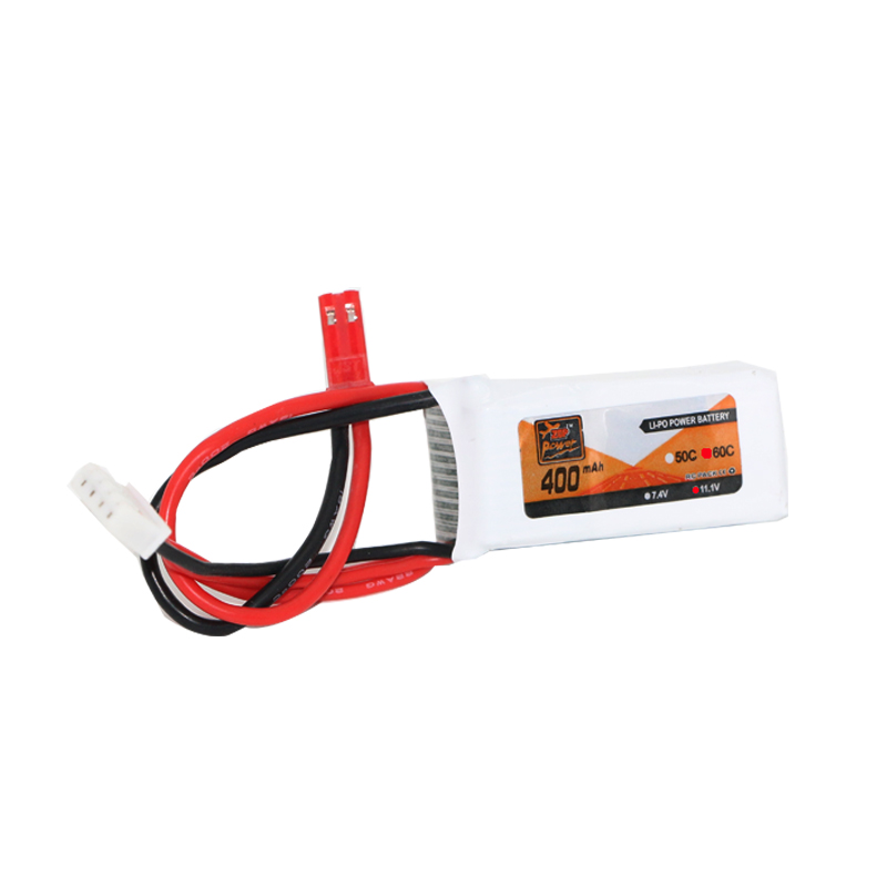 High Quality Rechargeable Lipo Battery ZOP Power 11.1V 400mAh 60C 3S Lipo Battery JST Plug For RC Toys cm 052535 3 7v 400 mah для видеорегистратора купить