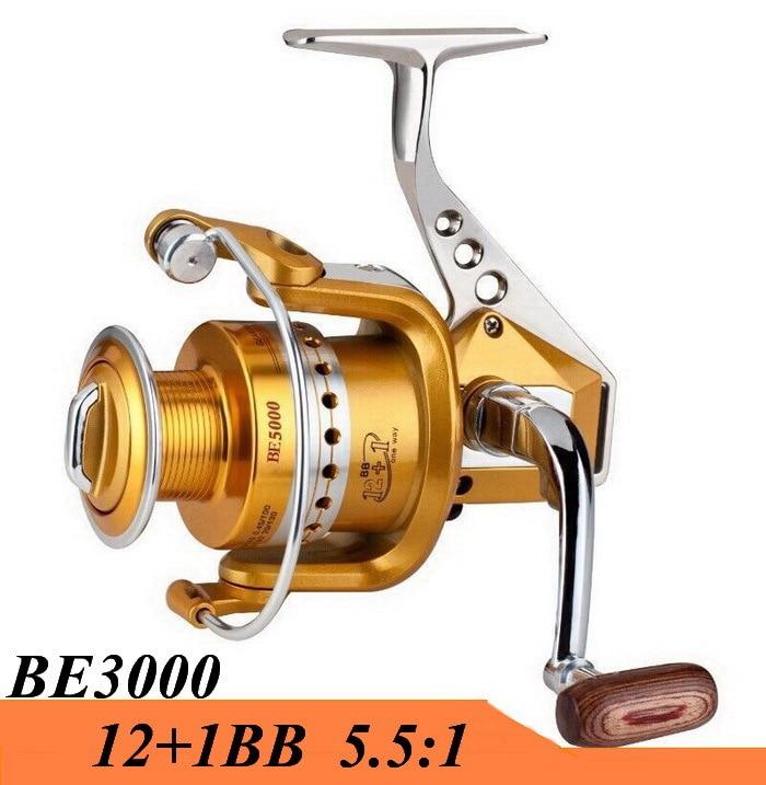 BE3000 Metal Spinning Fishing Reel 12+1BB Fish Wheel Saltwater Carretilha  Pesca For Shimano Fishing Free Shipping