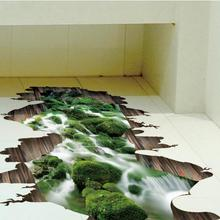Bathroom Living Room Home Decoration Art (Floor & Wall Sticker with 3D effect)
