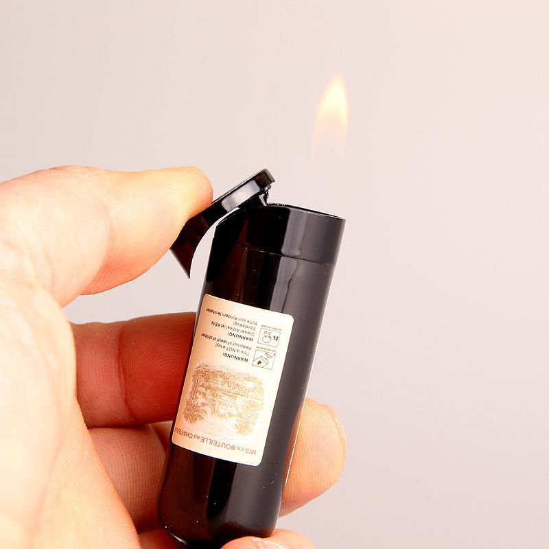 Image 3 - Free Shipping Creative Wine Lighter Compact Jet Butane Gas Cigarette Accessories Inflated No Gas-in Matches from Home & Garden