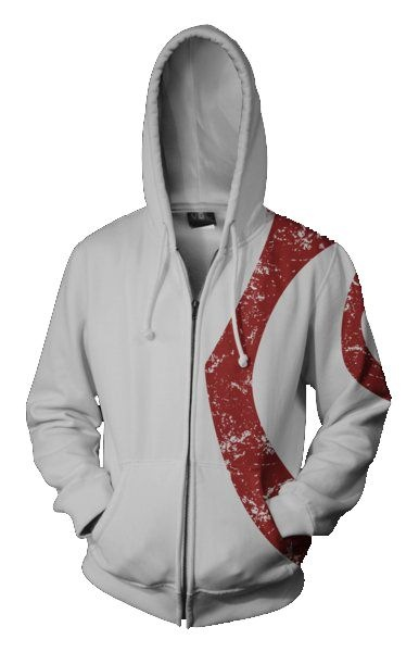 God of War Kratos Cosplay Costume 3D printed Hoodie Men Sweatshirt Long Sleeves Cratos Jacket Coat
