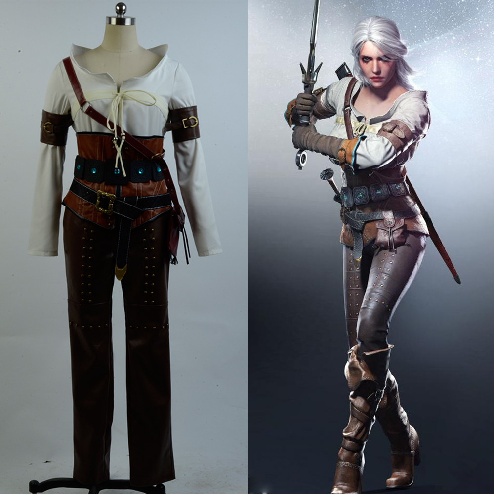 Cosplay Costume The Witcher 3 Wild Hunt Ciri Cirilla Fiona Elen Cosplay Costume Full Set Outfit Halloween Carnival Full Set