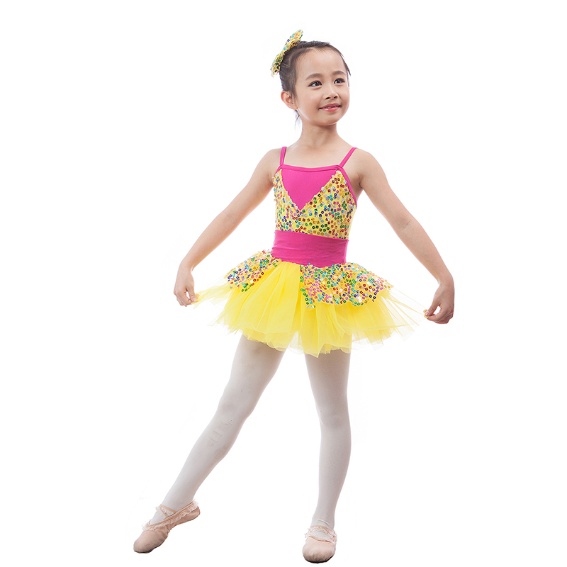 47ec44039 Shining Sequins Mixed color Children Ballet Tutu Girls Ballerina ...