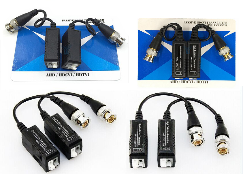 20PCS(10 pairs) HD CCTV Via Twisted Pairs Adapter HD CVI/TVI/AHD Passive Video Balun Male BNC to UTP Cat5/5e/6 Network Camera 1pairs high quality cctv via twisted pairs transmitter hd cvi tvi ahd passive video balun male cable bnc to utp cat5e 6