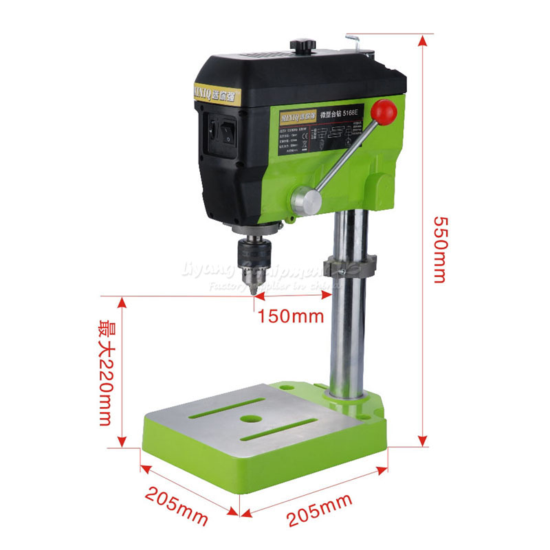 Mini Electric drilling table Variable Speed Micro Drill Press Grinder 5168E DIY Jewelry Pearl milling Machine electric power drill press stand table for drill workbench repair tool clamp for drilling collet table 35