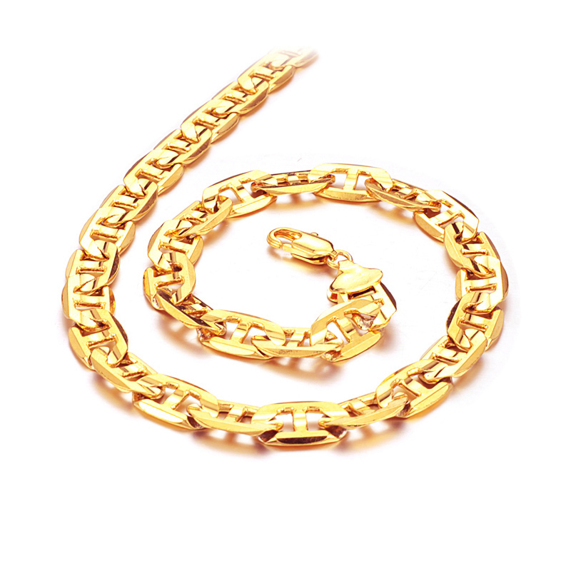 full high links polished chains yellow italian item necklace vintage gold exquisite vg karat kt fancy cut diamond