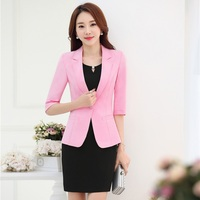 Plus Size 3XL Formal Uniform Design Professional Business Suits With Jackets And Dress For Ladies Office