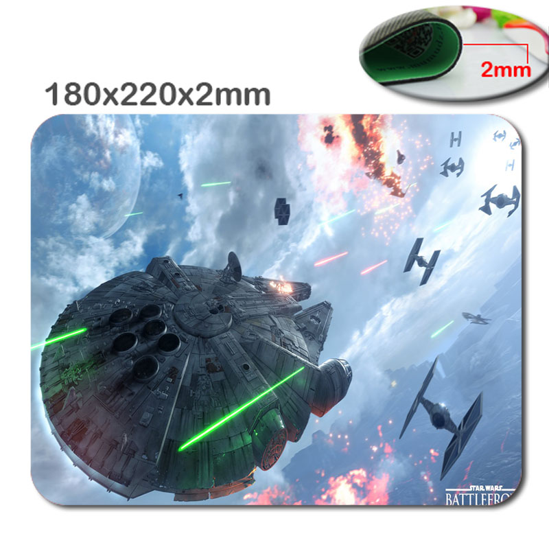 Star war 220mm*180mm*2mm games Custom 3D Frint Design PC Computer Gaming Mousepad Fabric + Rubber Material - accessory and gift image
