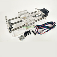 TR8x8 lead screw Z axis CNC linear slider Slide rail effective stroke 100 300mm with second NEMA17 stepper motor