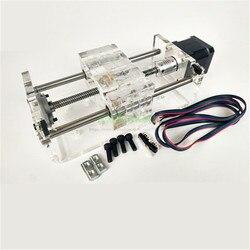 TR8x8 śruba pociągowa oś Z CNC suwak liniowy szyna ślizgowa efektywny skok 100 300mm Z drugim silnikiem krokowym NEMA17 w Części i akcesoria do drukarek 3D od Komputer i biuro na