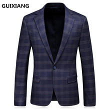 2017 new style men's leisure High quality suits jackets Men stripe Outerwear Casual Coat Men's wool Blazers suits size S-3XL(China)