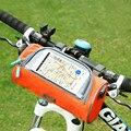 Велосипедная передняя трубка сумка водонепроницаемый Сенсорный экран велосипедная корзина на руль велосипедная передняя рамка чехол для ...