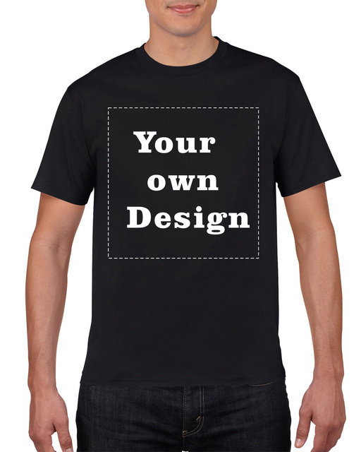 Customized Black Men S T Shirt Print Your Own Design High Quality Fast Ship