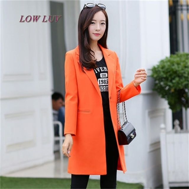 Hot Sale Women Blazers And Jackets Spring Autumn Casual Long Women Suits Wide Waisted Solid Female Jacket Size S-XXXL
