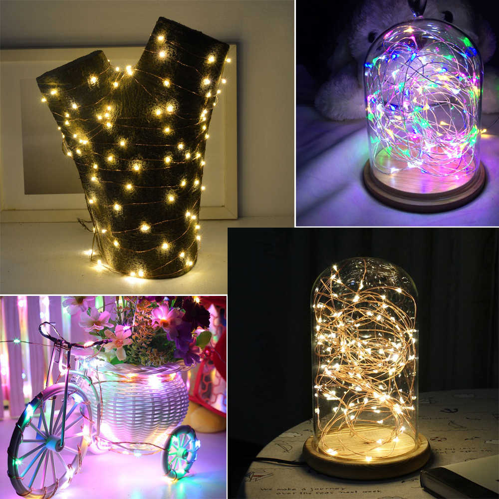 Micro Christmas Lights.Christmas Lights Indoor Led String Light Micro Leds 2m 5m Copper Wire Starry Rope Light For Party Wedding Home Table Decoration