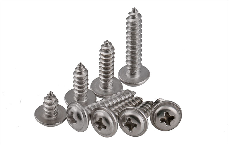 304 stainless steel Round head screws self-tapping screws with Padded M2 M2.3 M2.6 M3 M4 screws PWA screws