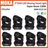 8 Pcs/lot Making Movie 4*25W LED Spot Moving Head Light for Bar Wedding Display