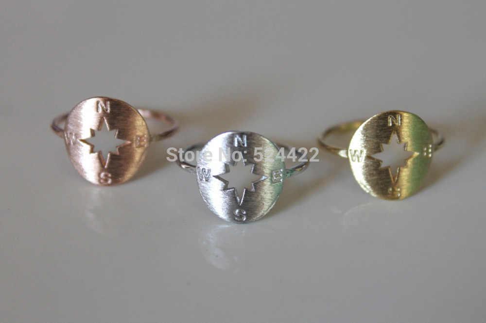 最小 1 pc パンクスタイルゴールド/ローズゴールドコンパスヴィンテージリングユニークなデザインのジュエリー JZ111
