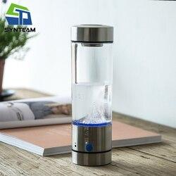 400ml Hydrogen Water Bottle Portable Office Hydrogen Water Generator Stainless Steel 304 Alkaline Water Ionizer Maker WAC004
