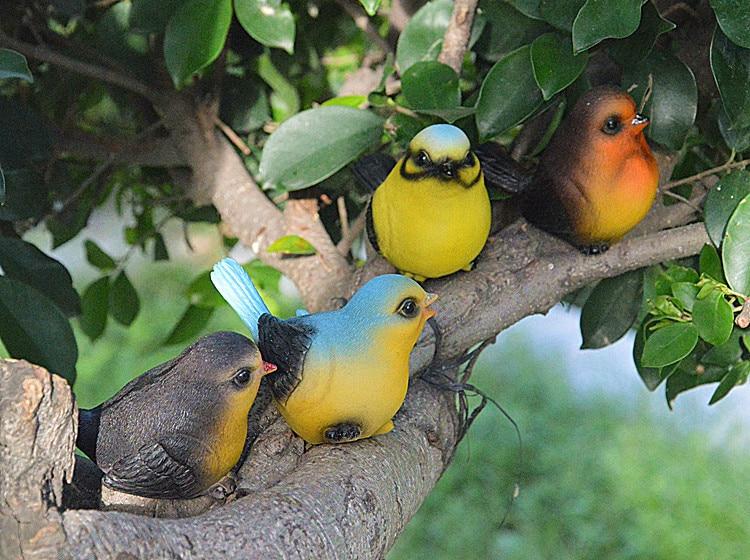 € 33.02  Décoratif jardin résine oiseaux jardin animal sculpture ornements  colorés oiseaux décoration artisanat-in Figurines et Miniatures from Maison  ...