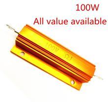 1PCS 100W 1R 2R 3R 4R 5R 6R Aluminum Power Metal Shell Case Wirewound Resistor 1 2 3 4 5 6 ohm 100W 5%
