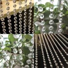 nuevo pies de vidrio ventana de cuentas de cristal cortina de cuentas octgono guirnalda