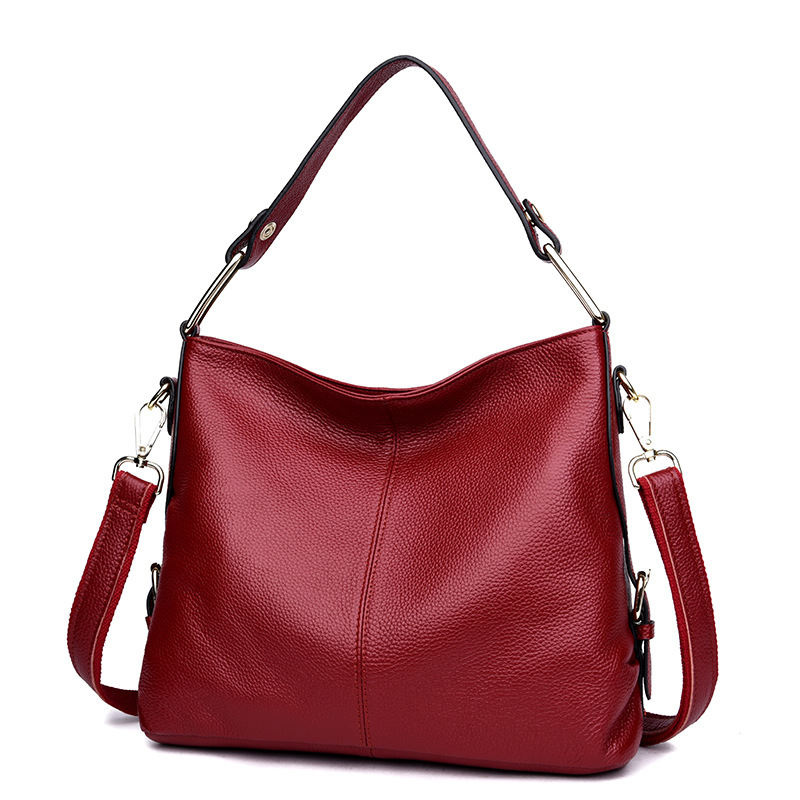 European and American Style Simple Cow Leather Women Bags 100% Genuine Leather Handbag T ...