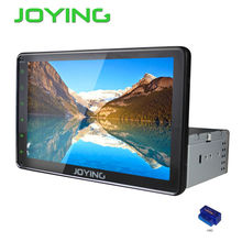 Joying Single 1 Din Universal Android Car Radio Audio Stereo Quad Core 10.1″ Big Screen HD GPS Navigation System Head Unit+OBD2