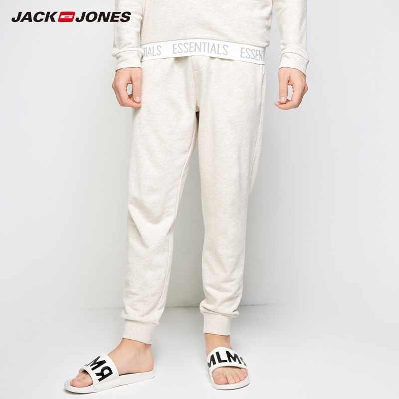 JackJones 男性の綿ホームウェアチェック巾着メンズウェア男性スリムフィットファッションズボン男性ブランド衣料 E | 2183HC502