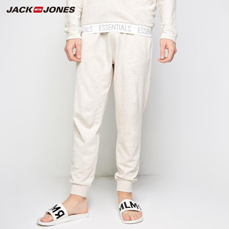 JackJones Men s Cotton Homewear Check Drawstring Pants Menswear Men Slim Fit Fashion Trousers Male Brand