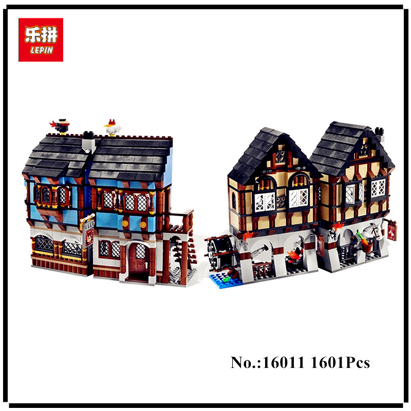 IN STOCK LEPIN 16011 1601Pcs Castle Series The Medieval Manor Castle Set Educational Building Blocks Bricks Model Toys 10193 lepin 16017 castle series genuine the king s castle siege set children building blocks bricks educational toys model gifts