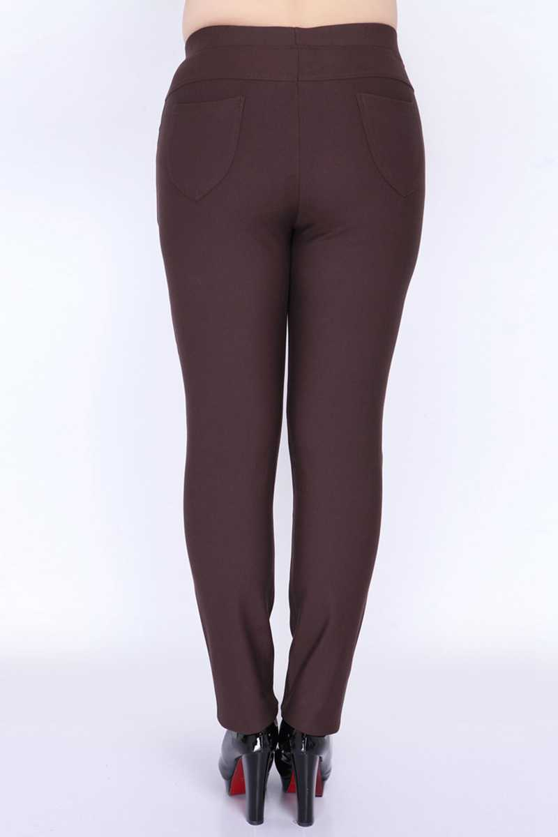 d0d3e2c8b30 ... Slim Casual Skinny Pants Women Plus Size 9 XL Stretched Pants Female  Long Trousers Red Brown ...
