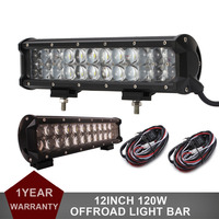 1pair OSRAM 120W 12 Inch Offroad LED Work Light Bar For Car Truck Auto ATV Pickup