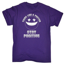 Graphic T Shirts Online Zomer O-Neck Short-Sleeve Mens Think Like A Proton ... Stay Positive T Shirts сумка printio proton and stay positive