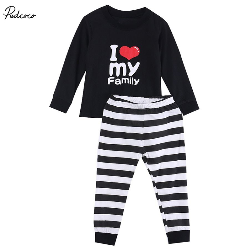 Lovely Baby Kids Girls Boys Cartoon Printed Cotton Pajamas Pyjamas Sleepwear Set cartoon character pijamas pyjamas kids pajamas for boys girls children clothing set sleepwear factory price 2015 newest cheap