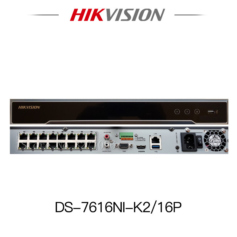 Hikvision DS-7608NI-K2/8P DS-7616NI-K2/16P 8MP H.265 4K POE NVR 8CH 16CH Embedded Plug&Play international Network Video Recorder