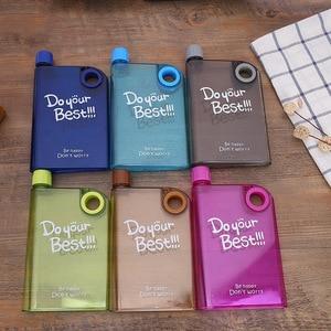 creative new transparent kettle outdoor portable book water bottle kettle plastic hip flask notebook bottled wine bottles