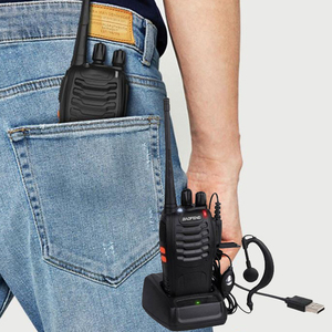 Image 3 - 2 قطعة لاسلكي تخاطب المهنية CB محطة راديو Baofeng جهاز الإرسال والاستقبال 5 واط VHF UHF المحمولة الصيد لحم الخنزير راديو