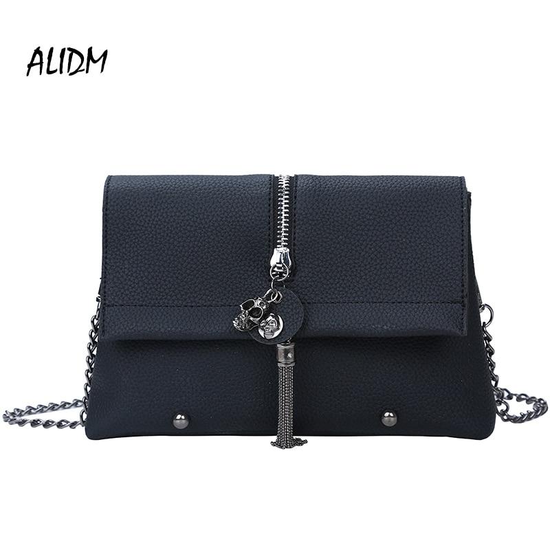 ALIDM 2018 New Chain Strap Women Bag PU Leather Women Messenger Bags Crossbody Designer Ladies Shoulder Bag Bolsa Feminina Sac