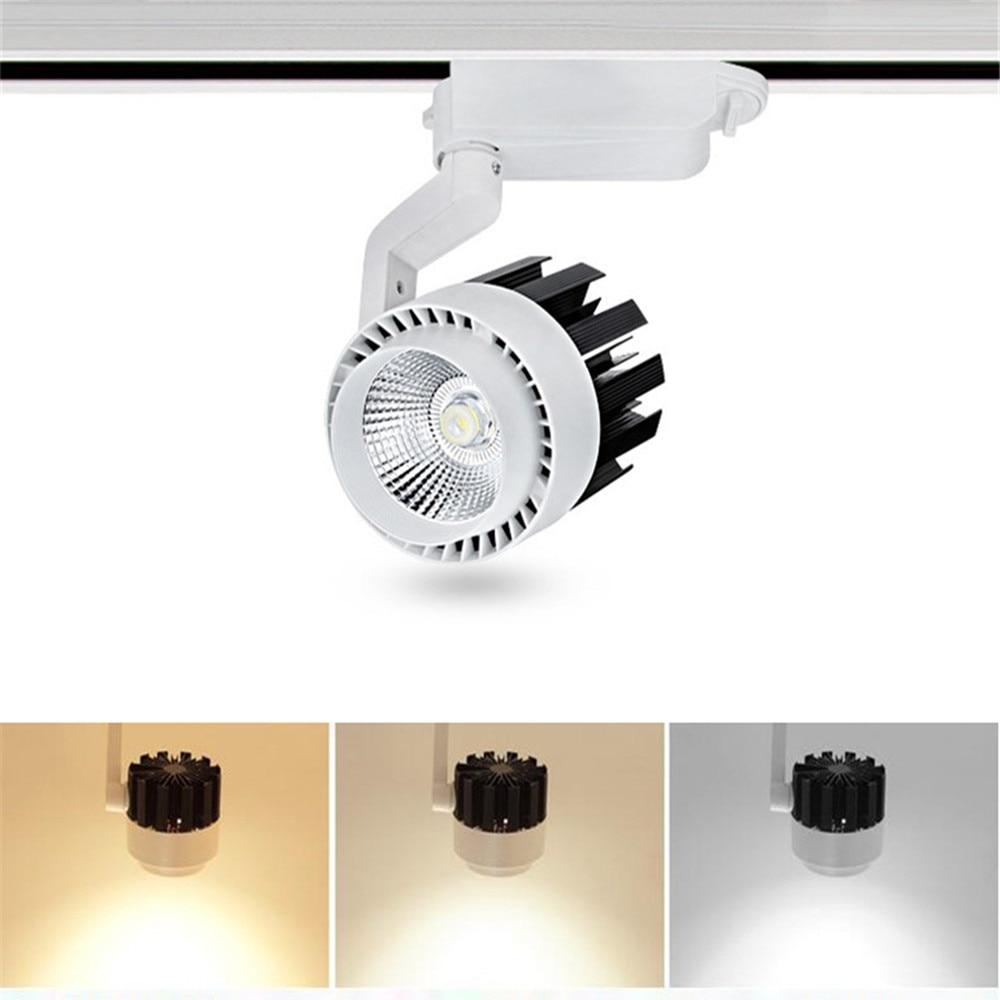 20W 30W COB LED éclairage sur Rail 220V aluminium plafond Rail Rail rails lumières projecteur lampe pour pendentif cuisine vêtements magasin éclairage