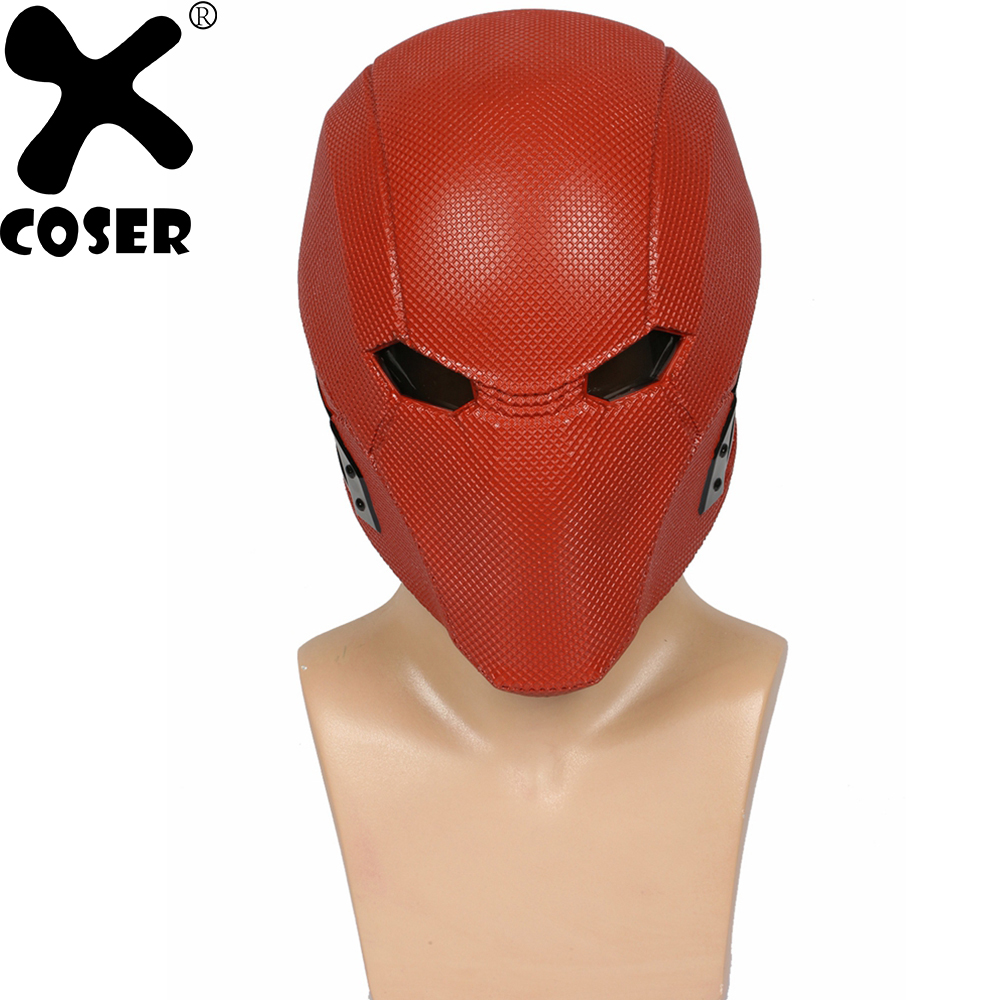 XCOSER Injustice League 2 Red Hood Full Head Helmet Game Cosplay Props Resin Full Face Mask Halloween Costume Accessories