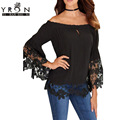 Yi Ran Shi Ni White Off-The-Shoulder Lace Trim Blouse Butterfly Sleeve Women's Blouses Free Sexy  Women's Clothing LC25919