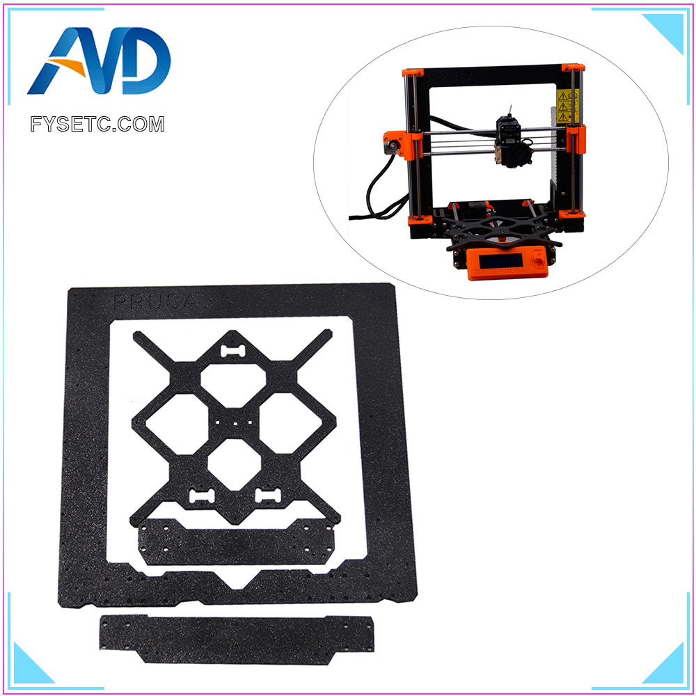 Cloned Original Prusa i3 MK3 Aluminum Alloy Frame + Y Carriage +Front With Rear Plate Set For Reprap Prusa i3 3D Printer Parts prusa i3 update version large size xl aluminum extended 300x200mm y carriage plate for reprap 3d printer